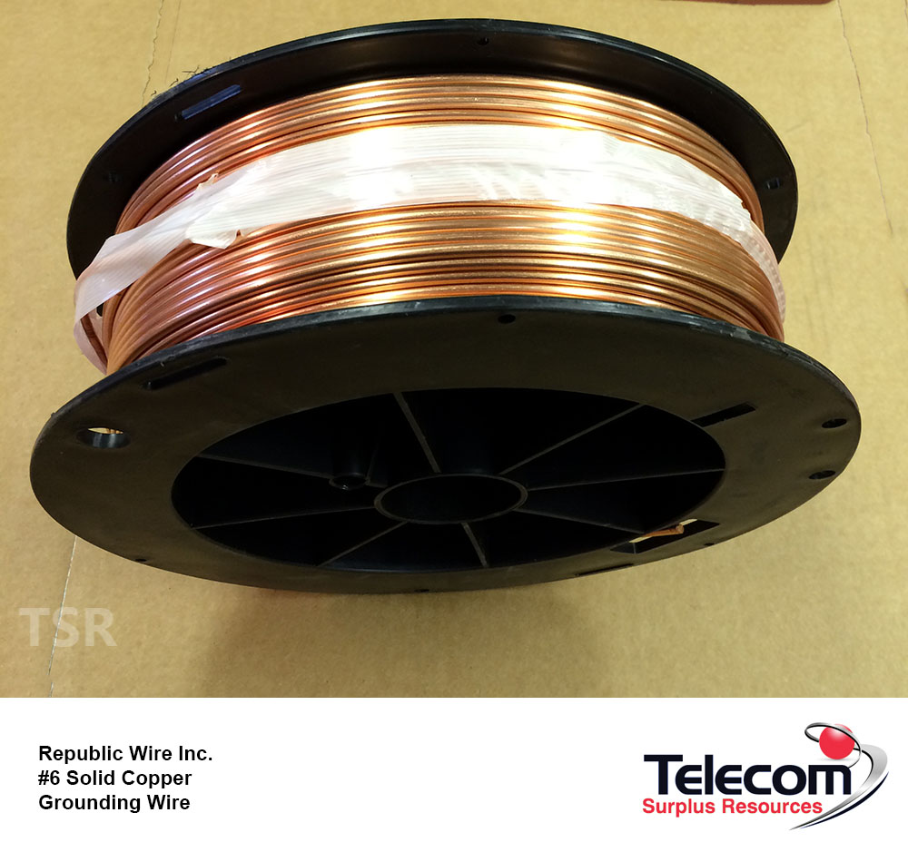 Republic Wire Inc. #6 Solid Copper Grounding Wire 315 FT | Telecom ...